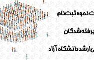 جزئیات نحوه ثبتنام پذیرفتهشدگان آزمون ورودی دوره کارشناسی ارشد دانشگاه آزاد اسلامی