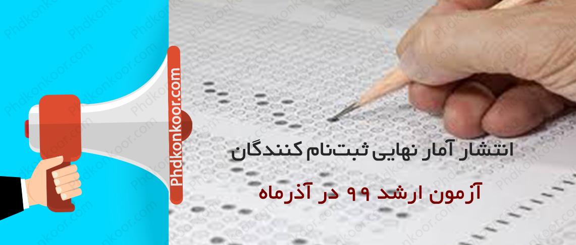 انتشار آمار نهایی ثبتنام کنندگان آزمون ارشد ۹۹ در آذرماه